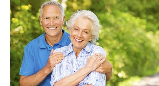 Happy Senior Couple Embracing.